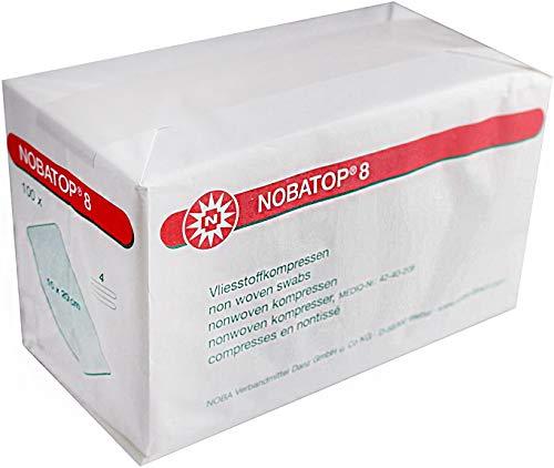 Tessuto non tessuto-compress 100 Pezzo Nobatop 8 non sterile varie grandezze - 10,0 cm x 20,0 cm