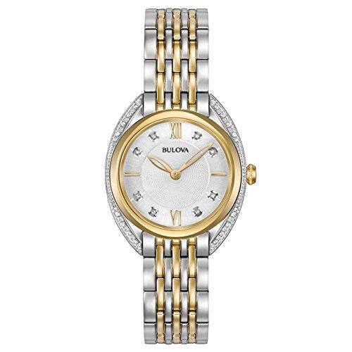 Bulova Reloj Analógico para Mujer de Cuarzo con Correa en Acero Inoxidable 98R229