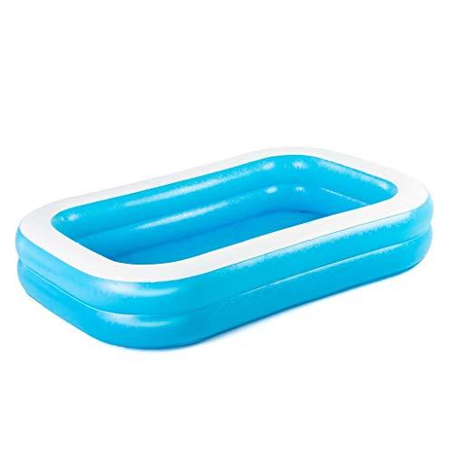 Jumbo Pool Planschbecken Badespaß Schwimmbad Pool Kinderpool Familienpool Kinderplanschbecken ca. 262 X 175 X 51 blau