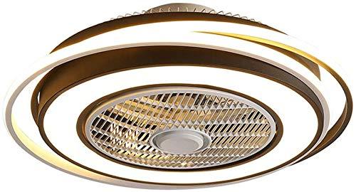 HUIYAN Ventiladores de Techo con luz Fans De Techo con Luces 60W LED Luz De Techo Control Remoto Regulable, Ultra Tranquilo Sala De Estar Dormitorio Fans Araña (Color : Black)