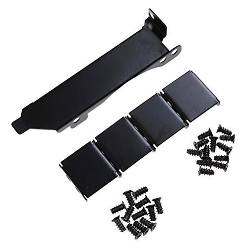 Kit de herramientas Negro de doble ventilador de la ranura de montaje en rack Soporte de PCI for 8cm / 9 cm Ventilador 3 Ventilador de montaje en rack ranura PCI Bracket conectores de ventilador Fácil