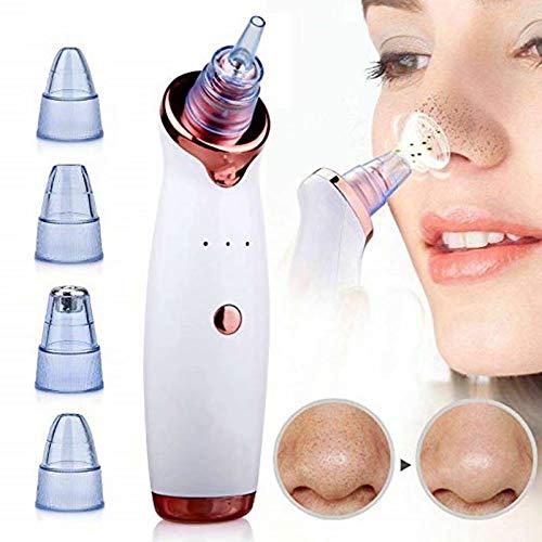 Limpiador de poros para mujeres y hombres, limpiador de poros, recargable por USB, limpiador facial de poros, acné, comedón, herramienta con 5 potencia de succión ajustable y 4 sondas de repuesto