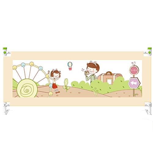 Support de lit à Hauteur réglable pour lit d'enfant, lit de Levage Vertical, Garde-Corps de sécurité, lit de bébé, Enfants, Lits Jumeaux, Double (Size : 1.8m)