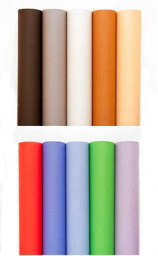 MyStudio 24' x 36' Colored Seamless Paper Background Inserts for MyStudio PS5 PortaStudio Lightbox (10 Pack)