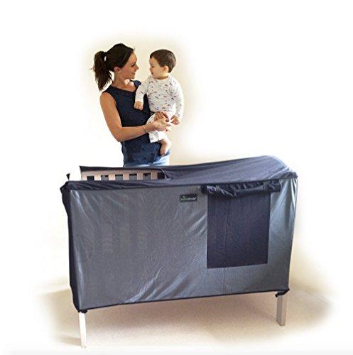 SnoozeShade Baldachin für Kinderbetten, atmungsaktive Bespannung