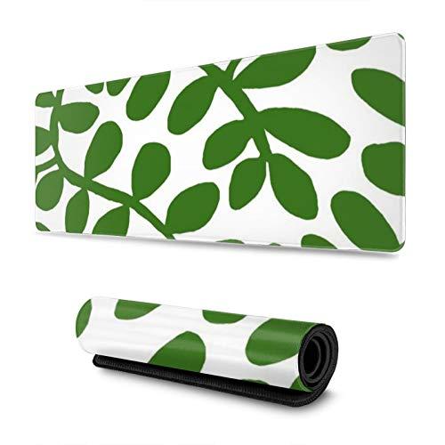 Winding Vine Leaves - Alfombrilla para ratón (tamaño grande, antideslizante, resistente al agua, para trabajo, juegos, oficina, hogar, 30 x 80 cm)