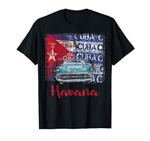 Kuba Havanna Kuba Flagge T-Shirt