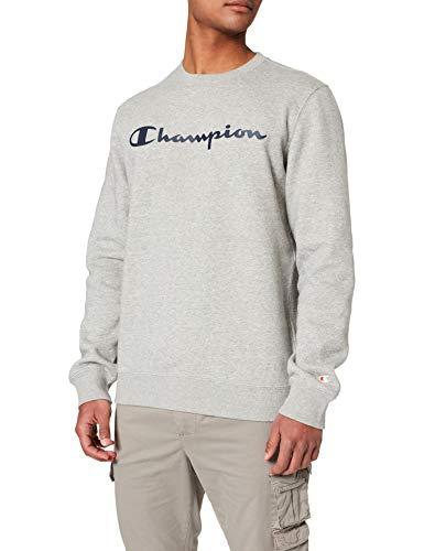 Champion Herren Legacy Classic Logo Sweatshirt, Helles Heather Grey, M