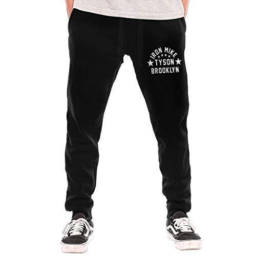 Q2cxc132 Tyson Iron Mike Brooklyn Man's Sweatpants Black