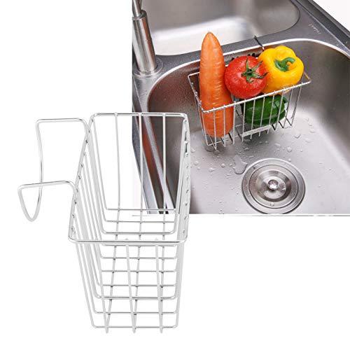 Soporte para Esponja, Carrito para Fregadero, Cepillo de Cocina, jabón, lavavajillas, escurridor de líquidos, Canasta de Almacenamiento para Fregadero de Acero Inoxidable