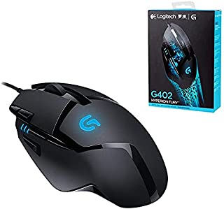 Logitech G402 Hyperion Fury Wired Gaming Mouse, 4,000 DPI, Lightweight, 8 Programmable Buttons