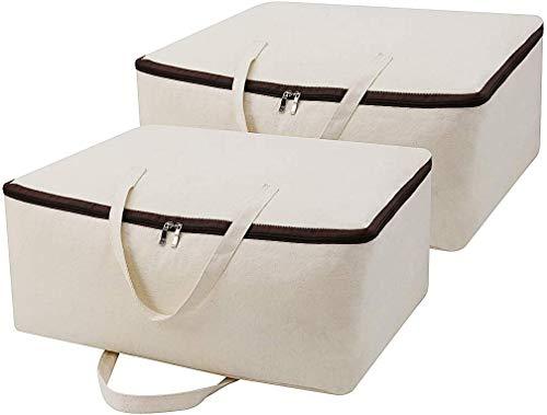 iwill CREATE PRO - Borsa per il trasporto in 100% cotone con manici, 2 pezzi, colore: Beige