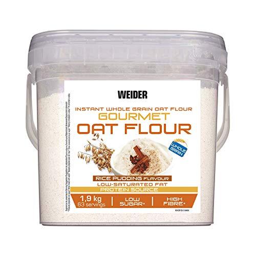 Weider Oat Gourmet - Harina de Avena Integral, fuente de proteína con bajo contenido en azúcares, sabor Arroz con Leche (1.9 kg)