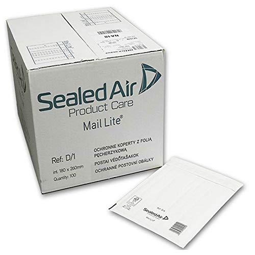 Mail Lite Luftpolstertasche/Versandtasche gepolstert, 180x260 mm, D1, 100Stück