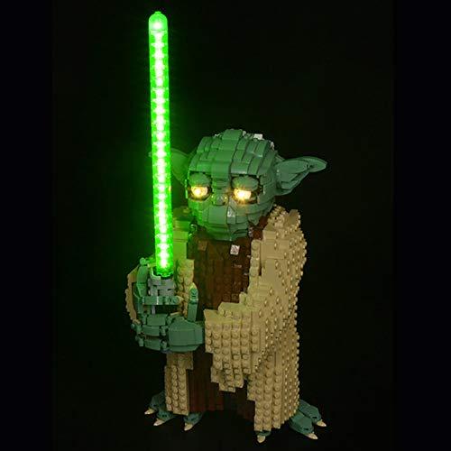 LODIY Beleuchtung Lichtset für Star Wars Yoda - Beleuchtungsset Kompatibel mit Lego 75255 (Nicht Enthalten Lego Modell)