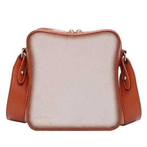 COUYY Personalisierte Tasche Frauen, kreative Trend, pochiertes Ei, Brot, Trendige Wilde One-Shoulder Messenger Bag