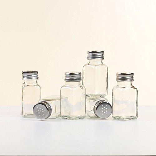 Set de 6 botes de vidrio para especias vac/íos