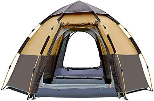 LAZ 5-8 Person Instant Tent Waterproof Pop Up Tent Quick Set Up Family Beach Dome Tent UV Protection with Carry Bag, Thickening 4 Season One Room Ventilation Tent