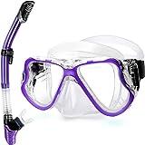 Best Womens Snorkel Masks - Greatever Dry Snorkel Set,Panoramic Wide View,Anti-Fog Scuba Diving Review