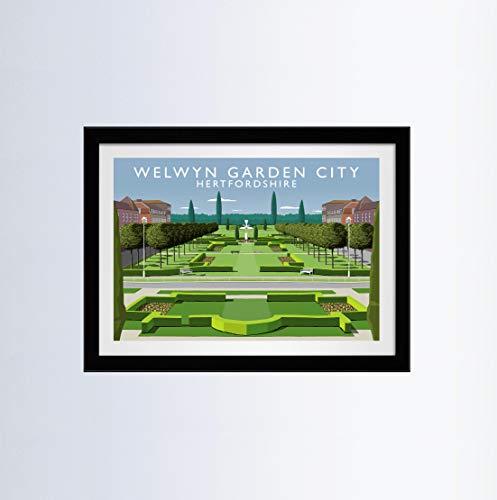 Vivarti Art - Welwyn Garden City 40x50cm Black Frame