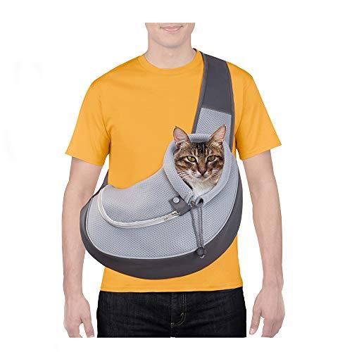CUBY- pettorina per cani e gatti, vivavoce, in rete traspirante, regolabile, borsa per cuccioli da viaggio, adatta per cani di piccola taglia