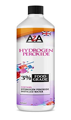 50 ml de peróxido de hidrógeno de grado alimenticio al 3%
