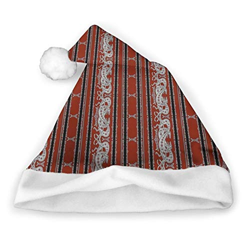 Celtic Greyhound Dogs, Burgundy and Grey Pack of 2 Christmas Santa Hats for Christmas Party