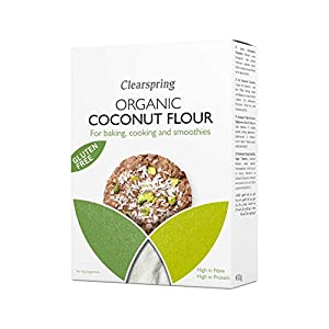 Clearspring - Harina de Coco 'Sin Gluten' para Hornear, Cocinar y Batidos - 1 x 400 gr