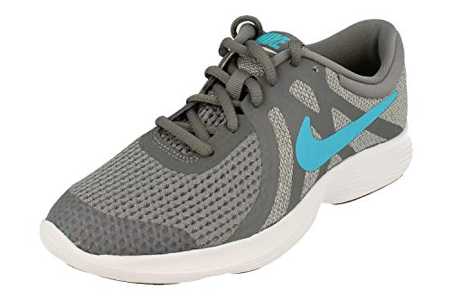 Nike Revolution 4 (GS), Zapatillas de Atletismo para Hombre, Multicolor (Cool Grey/Blue Fury/Pure Platinum/Black 014), 39 EU