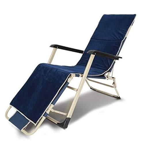 Sillón reclinable de jardín Comfort Reclinable acolchado plegable al aire libre reclinable silla reclinable al aire libre silla reclinable silla plegable cama exterior oficina siesta playa playa vocac