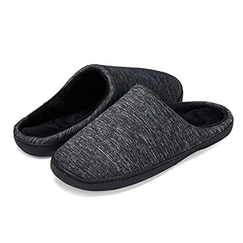 LeKuni Mujer y Hombre Espuma Memory Zapatillas de Interior Zapatos Antideslizantes Zapatillas de casa Ultraligero cómodo y Antideslizante Pantuflas de casa para (MT_HEISE_40)