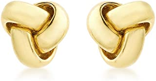 Carissima Gold Women's 9 ct Gold 9 mm Triple Knot Stud Earrings