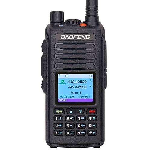 XMZWD 5W 10KM DMR Digital Analógico Portátil Walkie Talkie (GPS) Tier1 - Tier2 Repeater Dual Band VHF/UHF Ham Radio De Dos Vías, Función De Grabación/Scannable, Stand by VOX Función