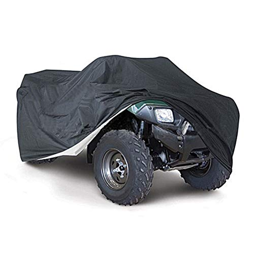 Quad Bike ATV Storage Cover 210D Oxford doek ATV Quad Bike Cover Bescherming Stof Regen UV-bescherming Utility Vehicle Storage Cover - Zwart,M