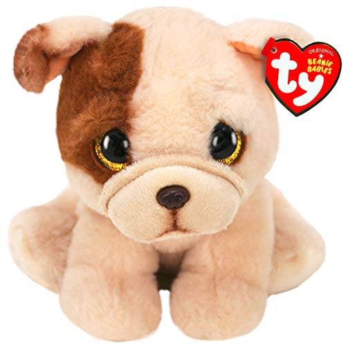 Ty - Cane Bulldog Houghie Babies Peluche, 15 cm, MG-TY-T40175