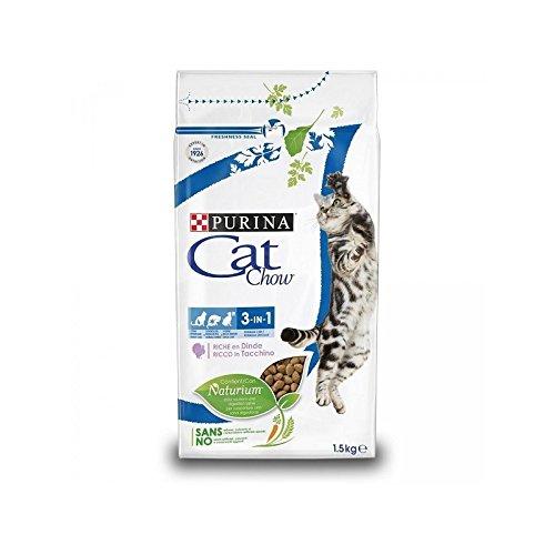 Purina cat chow naturium 3 in 1 ricco in tacchino 1,5 kg ✅