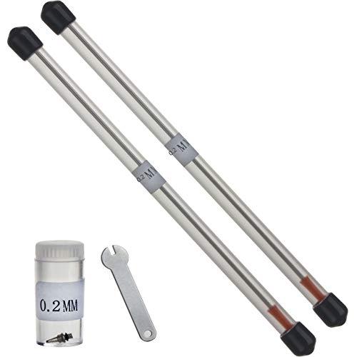 VIAEON 0.2mm エアブラシ アクセサリ ノズル ニードル 針 交換パーツ エアー ブラシツール ハンドピース 部品