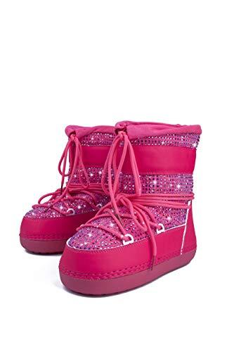 Mishansha Girls Boys Toddler Little Big Kids Winter Fur Snow Boots Warm Water Resistant Antislip Outdoor Shoes Black