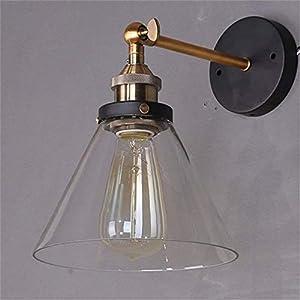 Lightess Apliques de Pared Lámpara Vintage Lámpara Industrial Estilo Retro Iluminación Rústico Casquillo E27 Lámpara de…