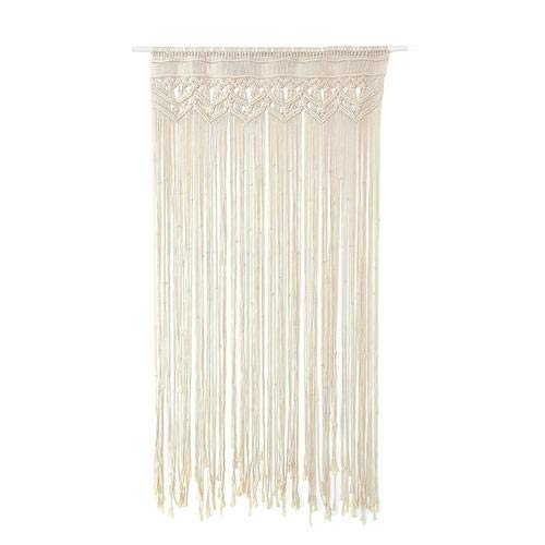 Awayhall Macrame Wandbehang Tapisserie Baumwolle gewebt handgewebte böhmische Tapisserie für Raumteiler, Fenstervorhänge, Türvorhänge, Hochzeitshintergrund, Inneneinrichtung 90 * 180 cm