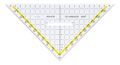 GEOtec Zeichendreieck 400° TZ-Dreieck®, Plexiglas®, 225 mm, glasklar