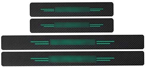 WanMei 4 Pcs Coche Fibra Carbono Protector Umbral Puerta para Kia Sorento Rio sportage cerato, Pegatinas Cubierta Película Antipatada Accesorios