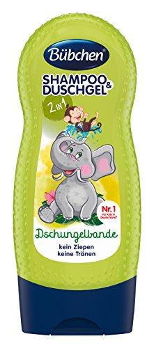 Bübchen Kids Shampoo und Duschgel Dschungelbande, Kinder-Shampoo und -duschgel, pH-hautneutrale Pflege für Kinderhaut, mit frischem Duft, Menge: 1 x 230 ml