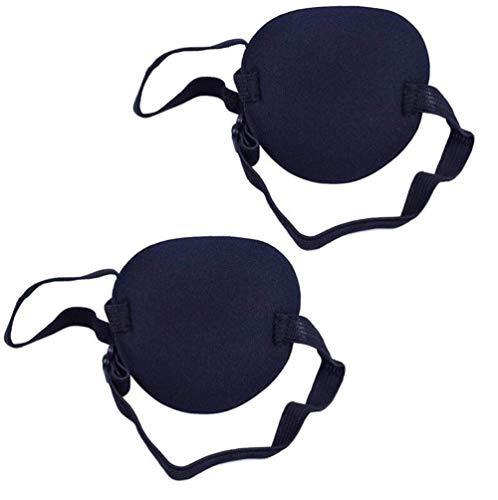 Augenklappe / Augenmaske, konkav, einzeln, verstellbar, Amblyopie, korrigiert, Augenklappe zur Genesung, 2 Stück