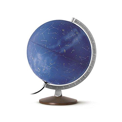 HL 3010 Himmelsglobus: HL 3010 Doppelbild-Leuchtglobus mit Sternenkarte und symbolischen Sternbildern, 30 cm, Metallmeridian und Holzfuß (Himmel und Planeten)