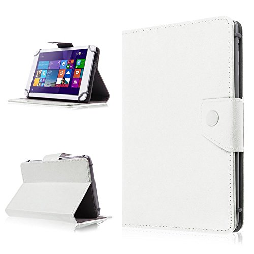 NAUC Tasche Schutz Hülle für TrekStor SurfTab Wintron 7.0 Tablet Schutzhülle Hülle, Farben:Weiss