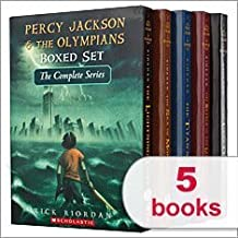 Percy Jackson & The Olympians Boxed Set The Complete Series 1-5: The Last Olympian, The Battle of the Labyrinth, The Tita...