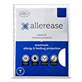 AllerEase Maximum Allergy and Bed Bug Waterproof Zippered Mattress Protector - Allergist Recommended