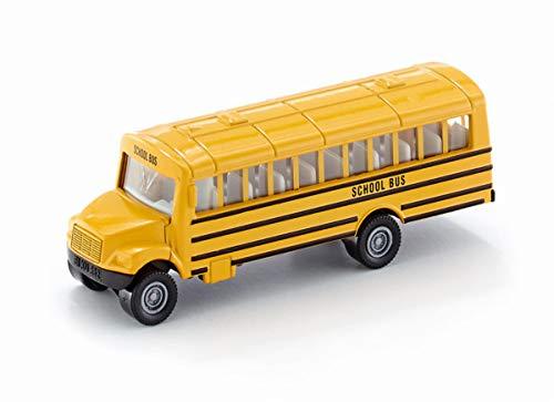 SIKU 1319, Autobús escolar estilo americano, Vehículo de juguete para niños, Metal/Plástico, Amarillo, Versátil