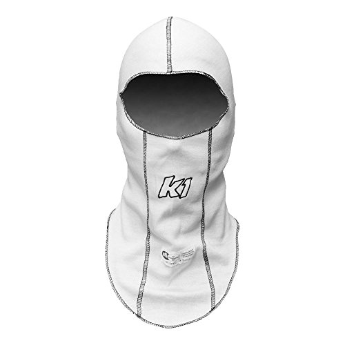 K1 Race Gear Single Layer Nomex Head Sock/Balaclava (White) (26-SLH-W)